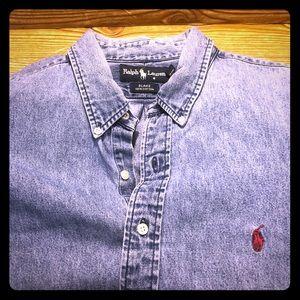Men's Denim Ralph Lauren Polo shirt Vintage